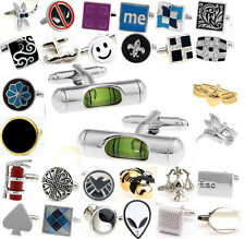 Lot Stainless Steel men's Wedding Party Square Crystal Cufflinks Cuff Link