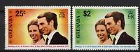 Grenada 1973 Royal Wedding MNH Set