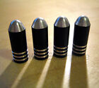 Black Alloy Bullet Dust Tire Valve Caps for MG TF ZR ZS ZT MGF MGTF 25 Rover