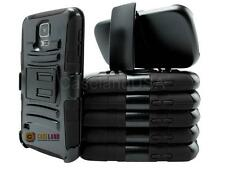 BLACK REFINED HEAVY DUTY ARMOR CASE COVER + BELT CLIP HOLSTER FOR VARIOUS PHONE