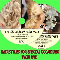 HOW TO CREATE A SPECIAL OCCASION HAIRSTYLE WEDDINGS BRIDES PROMS ETC  2 DVDS NEW