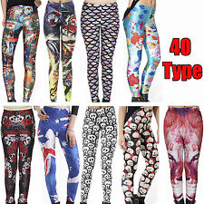 Womens Ladies Printed Celeb Ladies Stretchy Trousers Pants Jeggings Leggings