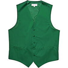 New polyester men's tuxedo vest waistcoat only solid wedding party emerald green