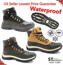 FREE SHIPPING Kingshow Mens Snow Winter Work Boots Shoes Leather Waterproof 0705