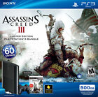 NEW SEALED Sony Playstation 3 Super Slim Assassin's Creed III Bundle 500 GB