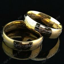 Lord of the Rings Hobbit The One Ring LOTR Retro Titanium Steel Ring