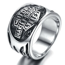 Mens Stainless Steel Ring, Viantage, Biker, Silver, Motor HR5501