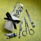 30 Pretty Black Damask Manicure Sets Wedding Favors Party Bridal Bridesmaid Gift