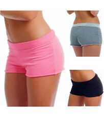 Sexy Terry Cloth Booty Hot Shorts Pink Black Gray White Blue Cotton Blend THS