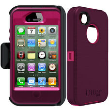 NEW! OtterBox Defender Series Case & Belt Clip Holster for Apple iPhone 4 / 4S