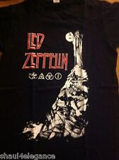 Led Zeppelin cover 100% Cotton Shirt Heavy Metal Jimmy Page Rock Robert Plant