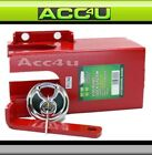 Trailer Caravan Coupling Hitch Red Plated Lock System