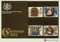1974 Christmas Stamps in Presentation Pack PP62 (printed no.67) - Royal Mail