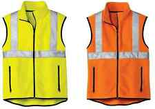 NEW Fleece Full-Zip Vest with Reflective Taping SAFETY ORANGE OR SAFETY YELLOW