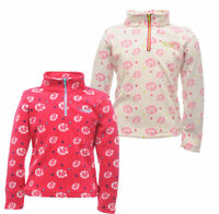 Regatta Alden Girls Fleece Top Kids Childrens Half Zip Jumper RKA066