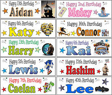 2x 3ft Personalised Sonic Mario Yoshi Call Of Duty Doc McStuffin Birthday Banner