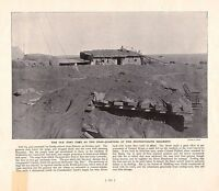1900 ~ BOER WAR PRINT ~ OLD FORT USED AS H.Q OF THE PROTECTORATE REGIMENT