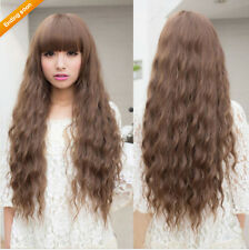 Beauty Fashion Womens Lady Long Curly Wavy Hair Full Wigs Cosplay Party
