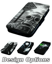 Gas Mask Designs - Printed Faux Leather Flip Phone Cover Case