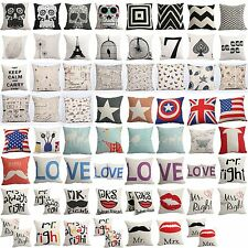 "17"" Square Linen Cotton Throw Pillow Case Cushion Cover Sofa Bed Home Decor Gift"