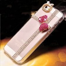 New bling gem Bow Bowknot and Rhinestone crystal back hard cover case For apple