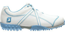 Ladies FootJoy M Project Golf Shoes White/Light Blue 95656 Womens CLOSEOUT New