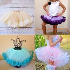 Princess Toddler Multilayer Tulle Party Dance Dress Baby Girls Short Tutu Skirts
