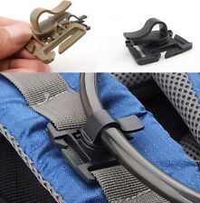 1pcs Rotatable Molle Hydration Bladder Drinking Tube Trap Hose Webbing Clip