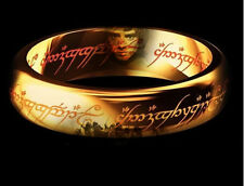 Size 6-12 Retro The Lord of the rings Stainless steel Ring Gift Width 6mm