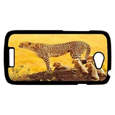 New Cheetah And Babies Hard Case Cover for HTC Huawei LG Xiaomi