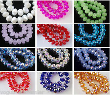 100pcs 3mm Crystal Glass Rondelle Faceted Diy Loose Spacer Beads Finding 67color