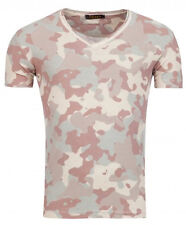Young & Rich Herren T-Shirt Camouflage V-Neck Used washed Optik tee Yts 1323