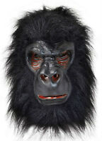 GORILLA MASK - FULL OVERHEAD LATEX / RUBBER WITH FUR - FANCY DRESS HALLOWEEN