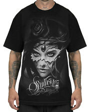 Sullen Athena Mens T Shirt Black Skull Rose Goth Tattoo Tee
