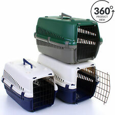 Pet Carrier Cat Kitten Dog Puppy Rabbit Portable Vet Transport Training Bed Cage