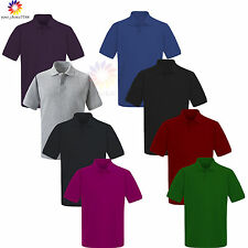 New Mens & Womens Olympic Plain Polo Shirt Short Sleeve - Casual Sport a lot mor