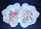 GERMAN LARGE 2 sided Serving Bowl With Center Handle* Blue pink FLORAL 14 ""