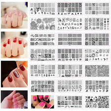 1PC DIY Nail Polish Tools Nail Art Image Stamp Stamping Plates Manicure Template