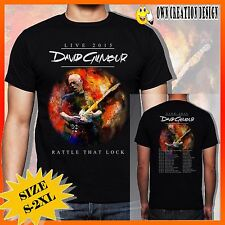 New DAVID GILMOUR RATTLE THAT LOCK LIVE DATES CONCERT 2015 Tee T Shirt S#S-2XL
