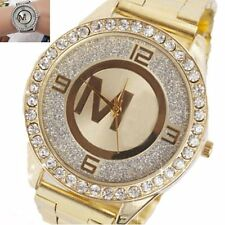 Fashion Women's Bracelet Stainless Steel Crystal Dial Analog Quartz Wrist Watch