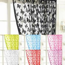 Voile Slot Top Net Curtain Butterfly Window Bedroom Curtain H