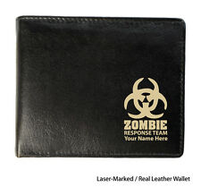 Personalised Mens Leather Wallet - Zombie Response