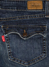 Authentic Levis 542 Slim Fit Low Flare Leg Women's Plus Blue Jeans Sz 18M