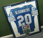 LEGEND !!! BARRY SANDERS AUTOGRAPHED JERSEY WITH COA!!! Professionally Framed!