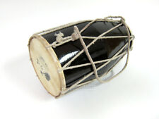 NEW DELUXE AUTHENTIC INDIAN DELHI STYLE DHOLAK DRUM PERCUSSION ~ CORD & RING