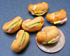 1:12 Scale 6x Filled Croissants Dolls House Miniature Kitchen Bread Accessory