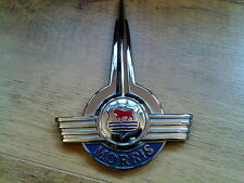 MORRIS MINOR BRAND NEW GENUINE O/E BONNET BADGE.  FACTORY SECONDS