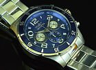 New Invicta Men's Pro Diver VD54 Quartz Chronograph Stainless St Blue Dial Watch