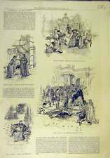 Old Orginal Print 1885 Theodora Geity Theatre Scenes Tableau Andreas 838011