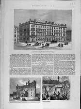Old Orginal Print 1876 Post-Office Building Glasgow Caithness Scotland 228041